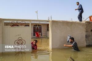 عکس/ شهر گوریه پس از وقوع سیلاب