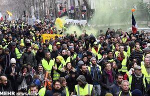 تظاهرات جلیقهزردها در شهرهای مختلف فرانسه