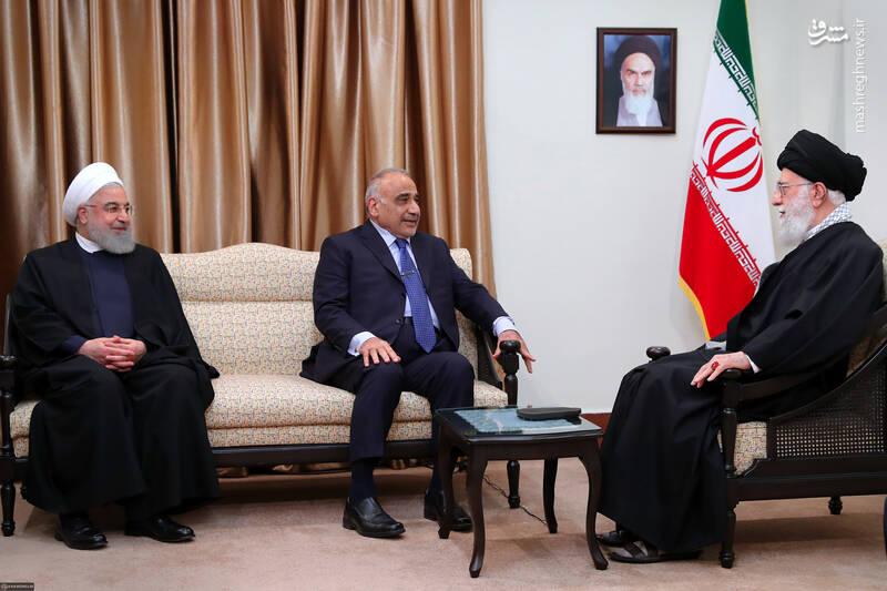 دیدار رهبر انقلاب با نخست وزیر عراق