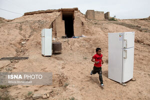 عکس/ پناهگاه سیل زدگان در تپههای «حمیدیه»