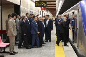 فیلم/ بهره برداری از نیمه جنوبی خط ۶ متروی تهران با حضور روحانی