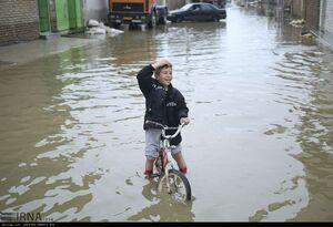 عکس/ کودکان سیلزده گلستان