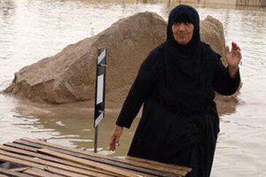 قایق خوزستان سیل