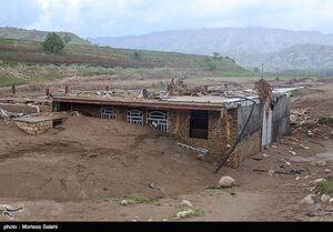 عکس/ خسارت سیل در روستای چم شهران - پل دختر