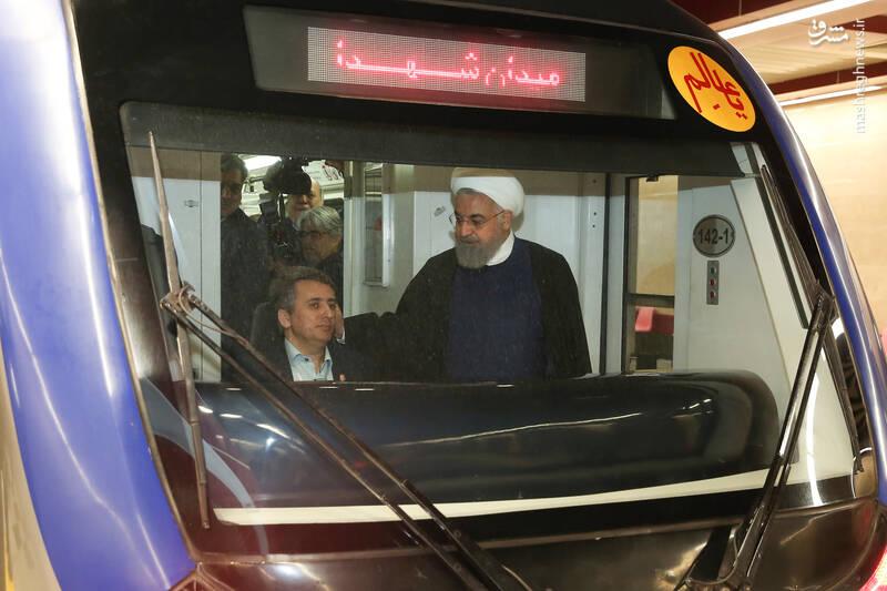 عکس/ افتتاح خط شش مترو تهران با حضورروحانی - 3