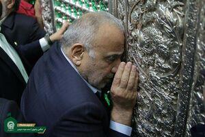عکس/ سفر نخست وزیر عراق به مشهد