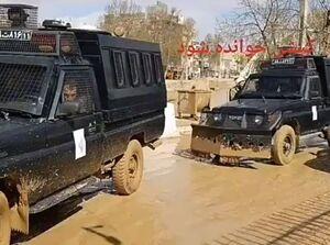 حضور پلیس ضد شورش در مناطق سیلزده برای سرکوب مردم! +فیلم