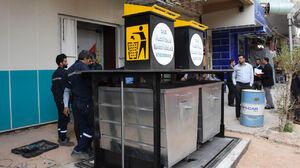 عکس/ نصب سطلهای هوشمند زباله در کربلا