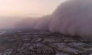 تصاویر هولناک از ورود گرد و غبار به چین