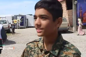 فیلم/ آرزوی جهادگر 13ساله در مناطق سیل زده