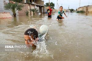 سیلاب در روستای «گوریه» شوشتر