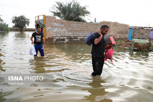 سیلاب در روستای «گوریه» - شهرستان شوشتر