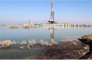 سیلاب سکوهای نفتی هورالعظیم را هم گرفت +فیلم