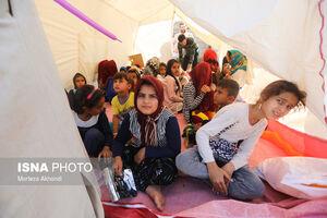 عکس/ اردوگاه اسکان اضطراری شوشتر