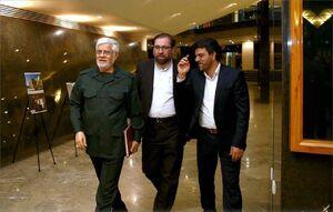 محمدرضا_عارف رئیس فراکسیون امید #مجلس، در لباس #سپاه پاسداران انقلاب اسلامی