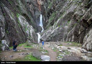 طغیان آبشار تافه بعد از ۱۸ سال - کرمانشاه