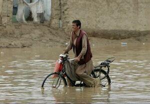 افزایش قربانیان سیلاب در افغانستان به ۱۰۸ تن +عکس