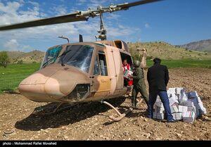 امدادرسانی هوانیروز ارتش به سیل زدگان
