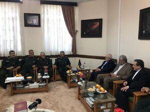 دیدار وزیر امور خارجه با فرمانده کل سپاه