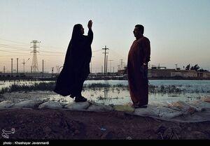 عکس/ رسیدن آب به ورودی اهواز