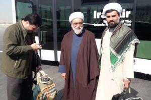 حجت السلام مروی بدون تشریفات در فرودگاه