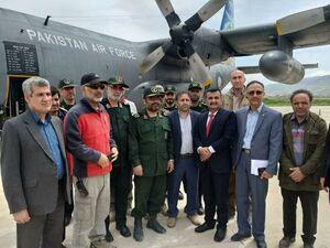 هواپیمای حامل کمکهای پاکستان در خرمآباد