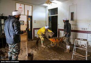 طلاب جهادگر در مناطق سیل زده لرستان