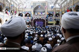 تجمع حوزویان مشهد در حمایت از سپاه پاسداران