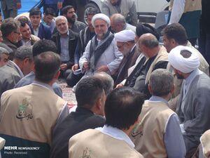 عکس/ حضور  تولیت آستان قدس رضوی در مناطق سیل زده