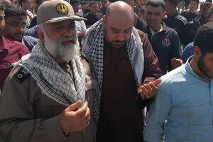 عکس/ حضور سردار نقدی در روستای عین دو اهواز