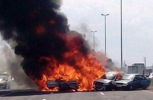 راننده اتوبوس حادثه اتوبان تهران _ ساوه دستگیر شد
