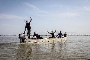 روستاهای سوسنگرد غرق در سیل