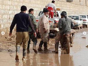 عکس/ سردار نقدی در میان سیل زدگان پلدختر