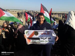 حمایت مردم غزه از سپاه پاسداران
