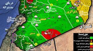 جزئیات حملات شب گذشته جنگنده های رژیم صهیونیستی به غرب استان حماه سوریه + نقشه میدانی