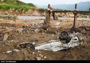 خسارات روستای سیل زده چم مهر