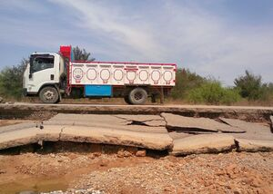 عکس/ خسارات سیل به جاده های شوشتر