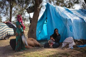 پناه بردن سیلزدگان خوزستان به جنگل!