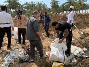 فعالیت بحرینی های مقیم ایرانی در مناطق سیل زده