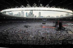 عکس/ گردهمایی حامیان رییس جمهور اندونزی در استادیوم