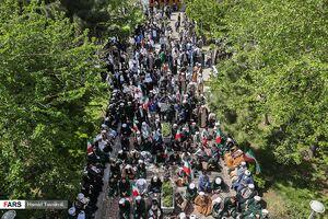 عکس/ تجمع طلاب حوزه علمیه مروی در حمایت از سپاه