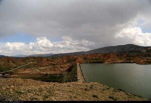 عکس/ حجم آب سد خاکی در خراسان شمالی