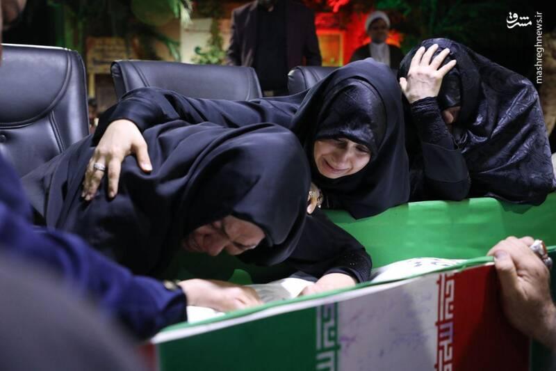 وداع با پیکر مطهر شهید مدافع حرم علی سعد