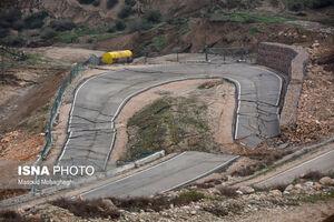 عکس/ پیشروی رانش زمین در روستای حسین آباد