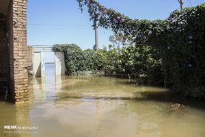 فیلم/ تلاش برای تخلیه آب از روستاهای سوسنگرد