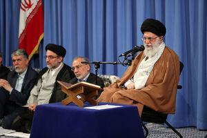 دیدار شرکت کنندگان مسابقات قرآن با رهبرانقلاب