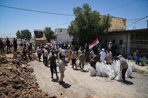 کمکرسانی نُجَباء به سیلزدگان اهواز و حمیدیه +عکس