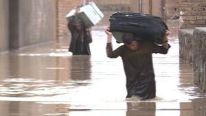 عکس/ طغیان مرگبار رودخانه ها در کابل