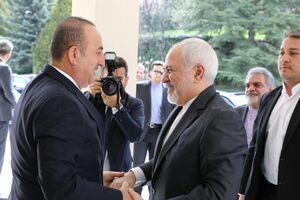 عکس/ دیدار وزرای خارجه ایران و ترکیه در آنکارا