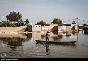 روستای سیل زده ابوشلوگ در شادگان -خوزستان